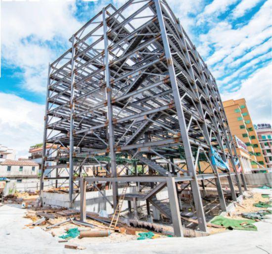 平潭首座立体停车楼钢结构完工 9月进场安装设备