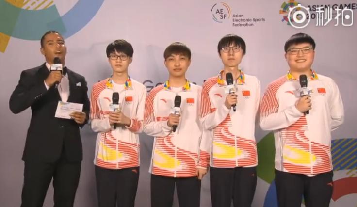 中国LOL亚运夺冠队员感言:想和所有人炫耀荣誉