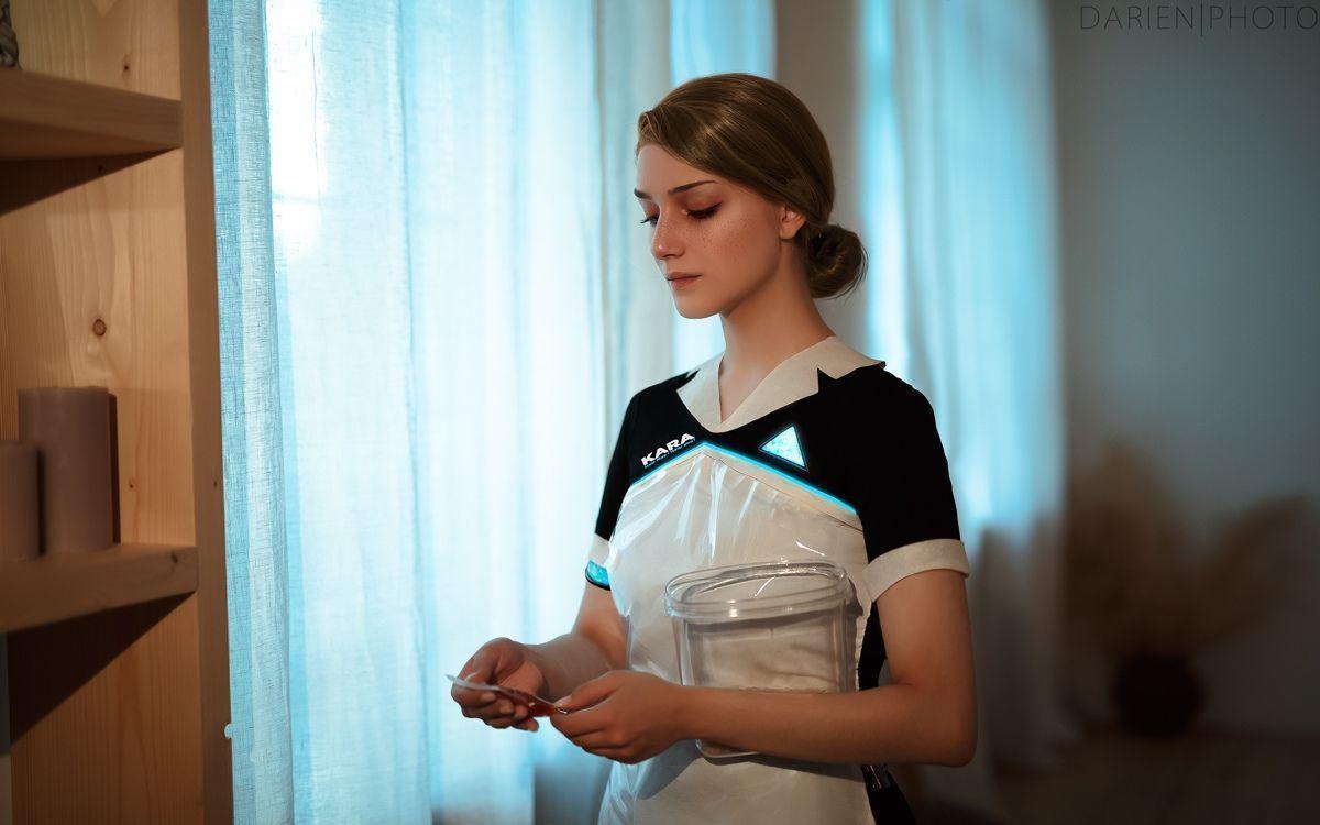 俄罗斯妹子Cos底特律卡拉 完美还原仿生人女仆