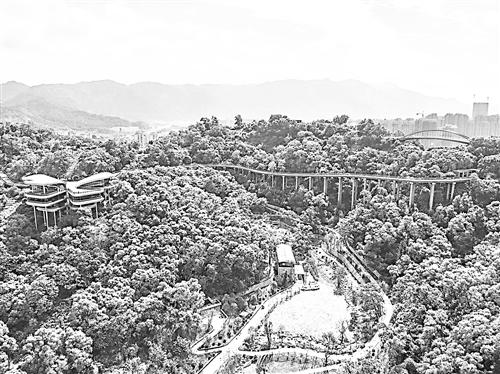 国庆前 福州金鸡山公园可从北入口上