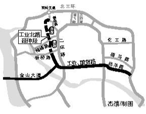 福州工业路向北延伸 将连到软件园