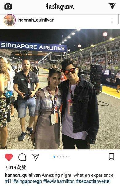 周杰伦陪妻看 F1 比赛 甜搂昆凌肩合照发狗粮