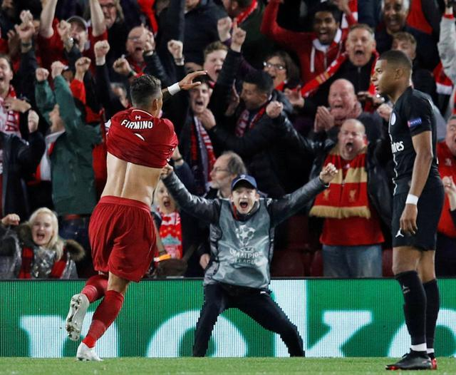 利物浦绝杀巴黎战况回顾 欧冠利物浦3:2胜巴黎 菲尔米诺立功