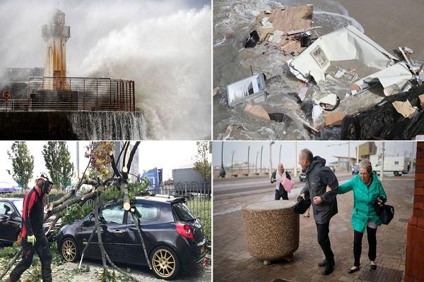 """风暴""""阿里""""袭击英国 致2人死亡逾19万户断电"""