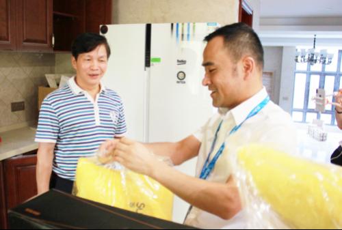 福州首台国米定制版冰箱送货上门 苏宁倍科老总齐出动1399