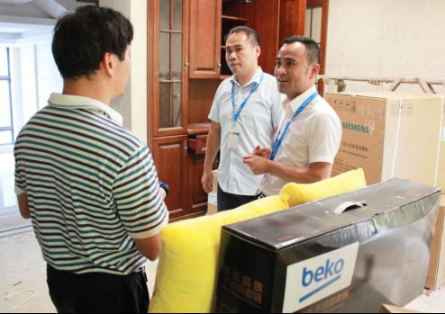 福州首台国米定制版冰箱送货上门 苏宁倍科老总齐出动1401