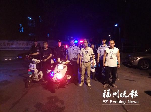 福州59岁社区书记夜擒三个偷车贼 夜里常带保安巡逻
