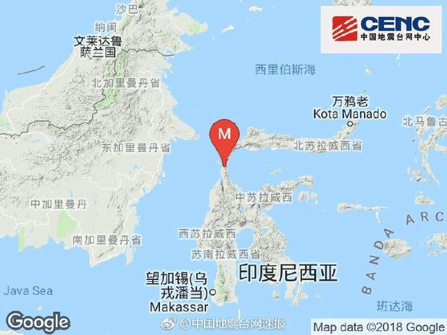海啸预警!印尼发生7.4级地震 震源深度10千米