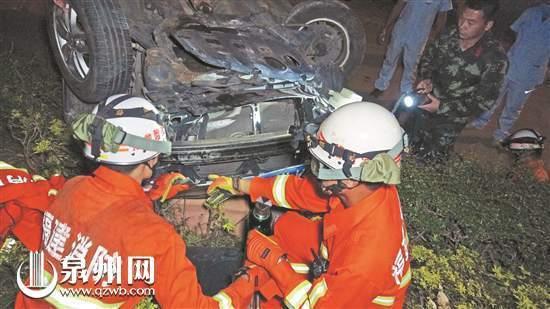 两同事走路上夜班 突遭轿车冲撞受伤
