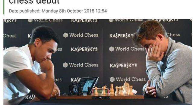利物浦天才挑戰國際象棋冠軍 挺了17步宣告失利