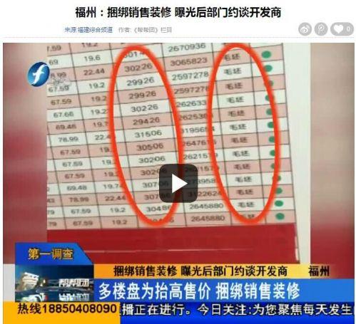 记者观察:福州楼市捆绑精装修销售何时休