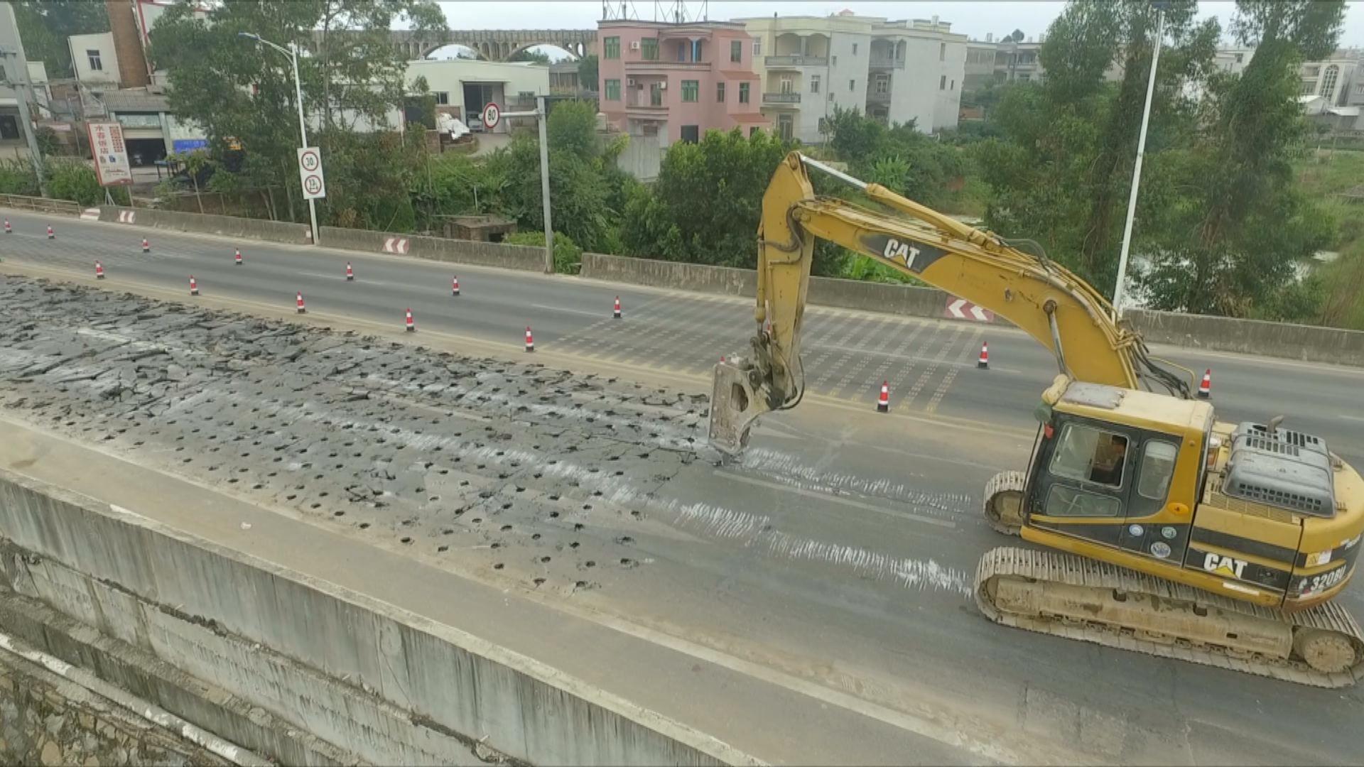 國道東瀘線東山徑口至八尺門路段進行路面修復