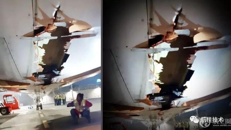 印客机起飞撞围墙现场高清图曝光 飞机撞成这样仍继续飞行?