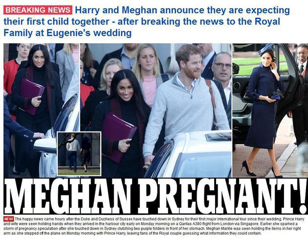 梅根王妃懷孕了!預產期明年春天!哈里王子將當爸