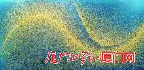 """厦门画家鱼骨画作 获""""百花杯""""金奖"""