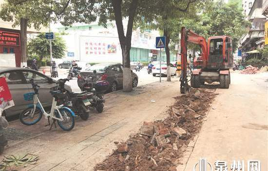 泉州祥远路开挖路难行 部门回应:提升改造年底完工