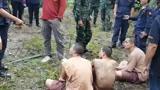 泰国三名罪犯越狱藏山林
