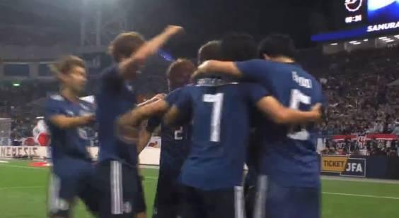 日本4-3乌拉圭 乌拉圭两连败 日本VS乌拉圭热身赛进球动图