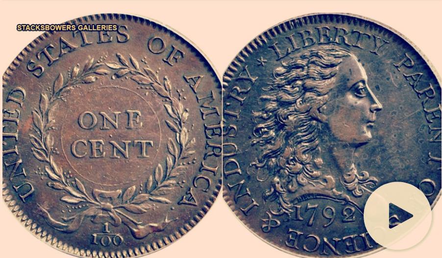 美國將拍賣最早的一美分硬幣:價值100萬美元(圖)