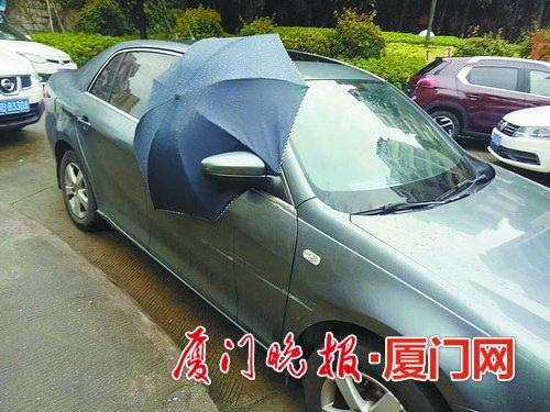 雨夜车主忘关车窗 好心人买伞帮挡雨收获近百个点赞