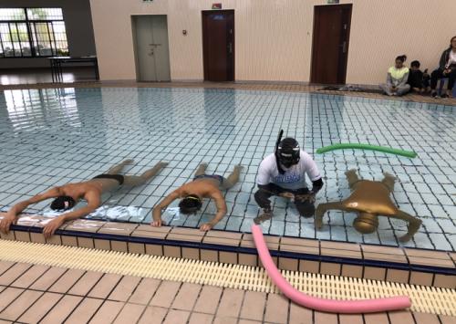2018全国蹼泳锦标赛近尾声,运动员们挑战自由潜水泳池赛