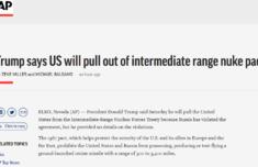 美将退出中导条约原因是什么详情曝光 美称俄违反中导条约是真的吗