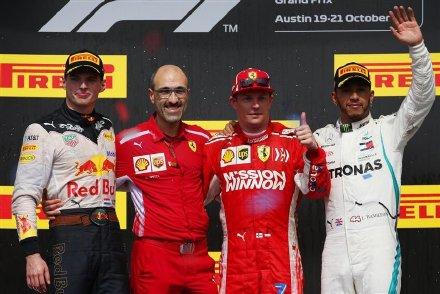 kimi夺冠 F1美国大奖赛Kimi莱科宁庆祝夺冠高清图