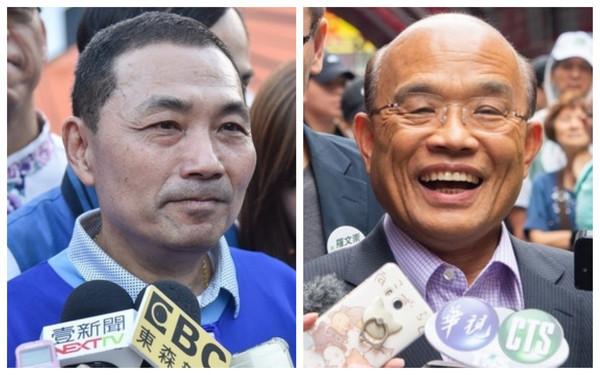 最新民调:侯友宜领先苏贞昌21.8% 苏在多个领域均落后