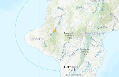 新西蘭北島西部發生6.1級地震坐標圖公布 暫無傷亡消息
