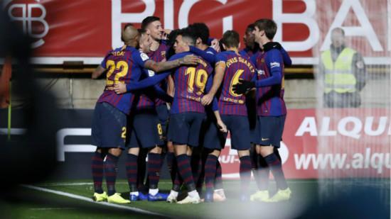 巴萨0-1莱昂内萨 国王杯巴萨对莱昂内萨比赛回顾出场阵容