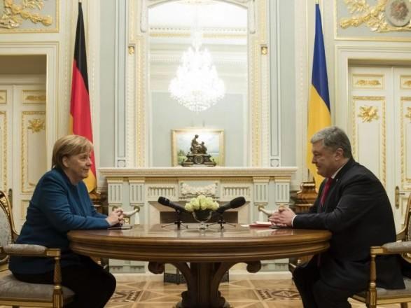 默克尔访问乌克兰现场照片曝光 默克尔访问乌克兰为俄罗斯问题?