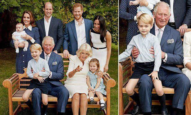英国王室查尔斯最新全家福曝光,路易小王子终于露正脸【图】