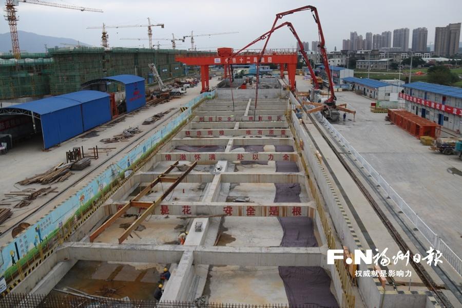 福州地铁5号线首个车站实现主体封顶