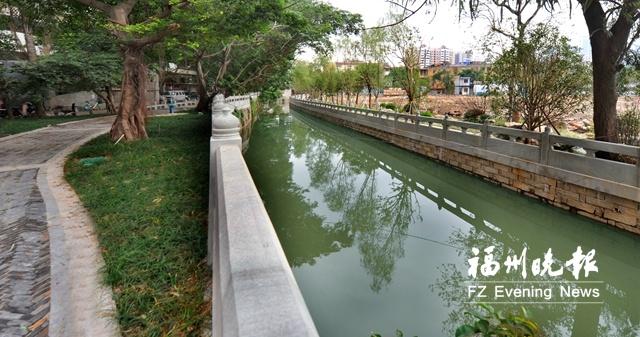 福州达道河串珠公园示范段建成 未来将连通南公园