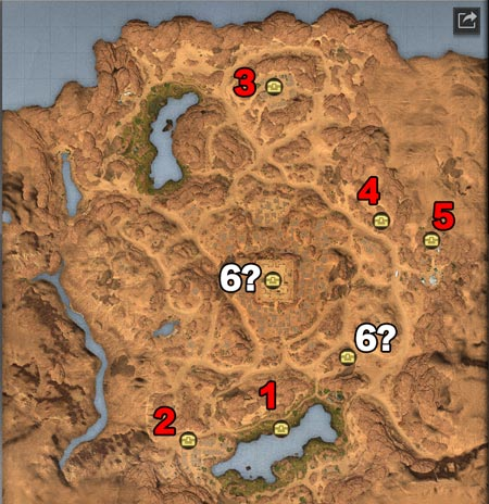 明日之后沙石堡探索宝箱最新位置坐标 6个沙石堡宝箱分别在哪