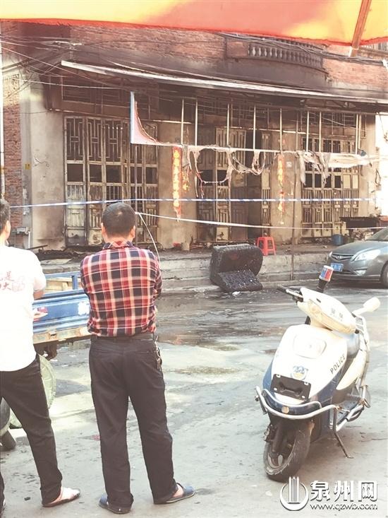 晋江陈埭一家小超市起火 老板本已逃出再入火海遇难
