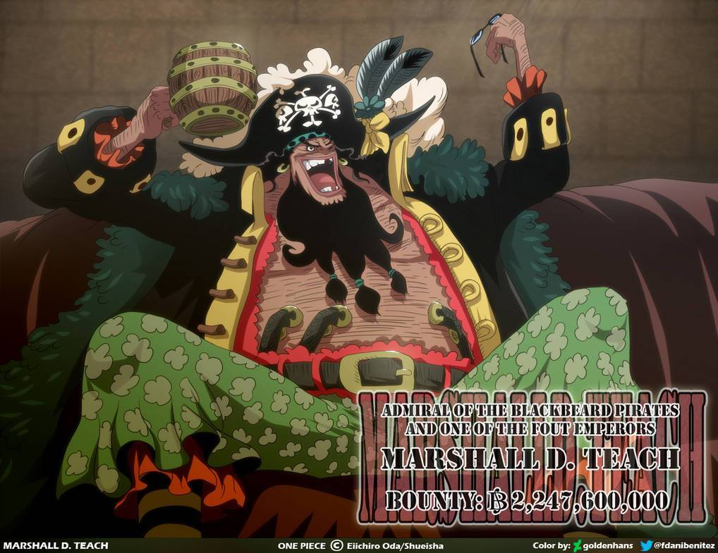 海贼王:黑胡子悬赏零头4760万有玄机 其他四皇或超50亿