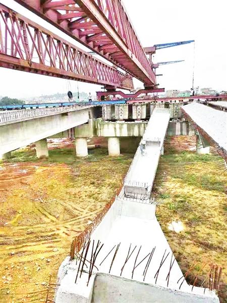 莆田仙游在建大桥 桥梁脱落
