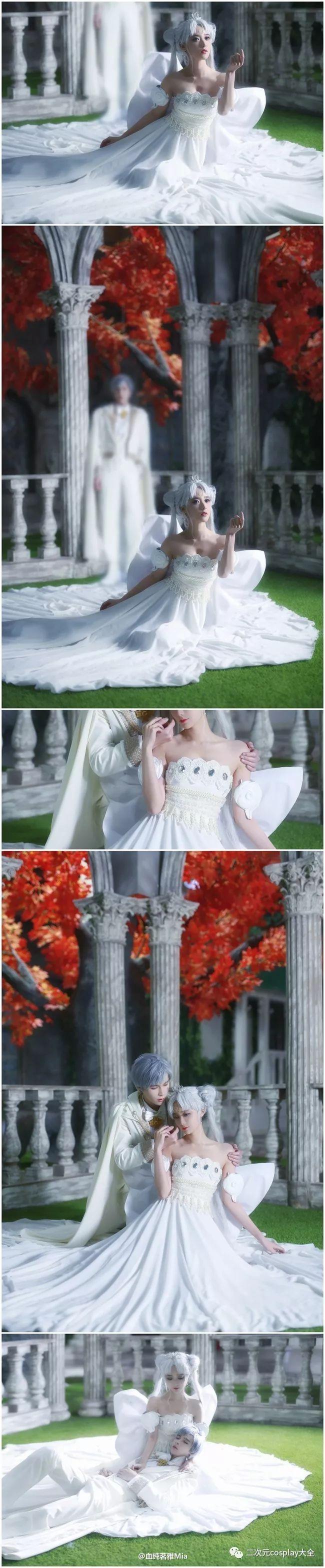 美少女战士经典婚礼殿堂:倩尼迪女王与安迪米欧国王甜蜜cos
