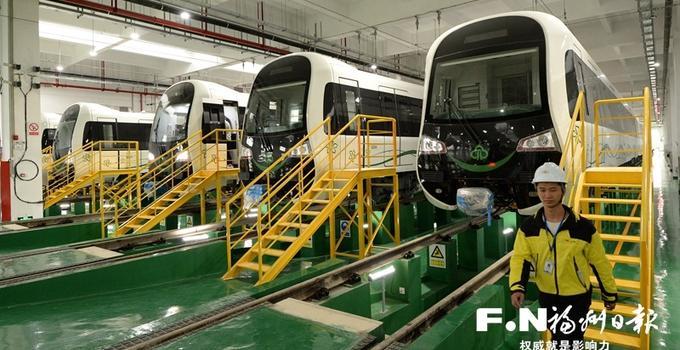 福州地铁2号线18辆新车就位 安全稳定跑足200公里才算达标