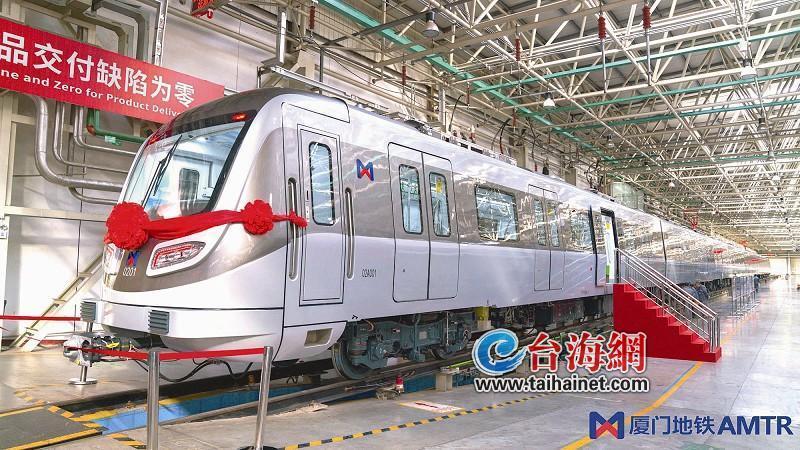 厦门地铁2号线首列车下线 预计本月中旬运抵厦门