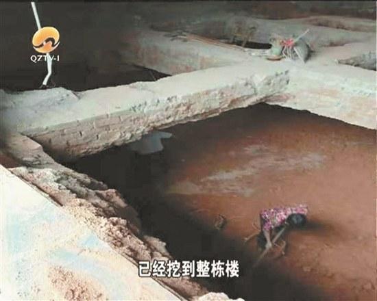 """永春:樓下商鋪偷挖""""地宮"""" 墻壁頻頻開裂嚇壞其他業主"""