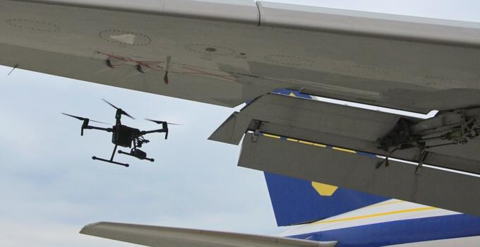 厦门太古成功完成无人机绕机检查测试