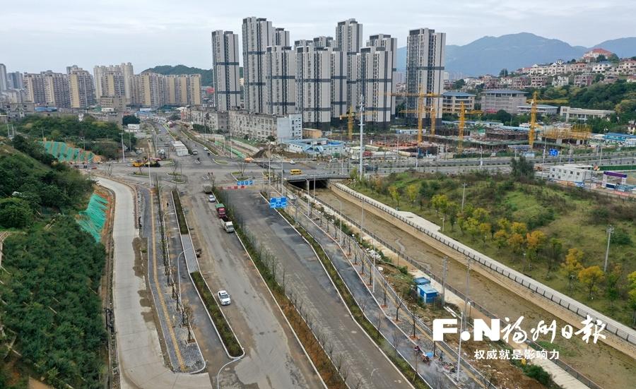 """福州新西凤路30日力争主线通车 城区在建最大现浇管廊已""""落户"""""""