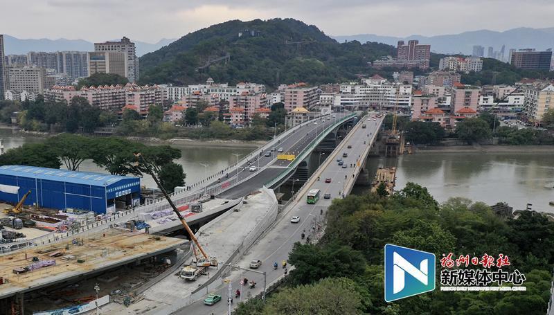 福州新建洪山桥元旦起右幅桥双向通行