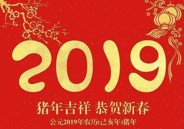 2019猪年新年祝福图片_2019猪年新年祝福语