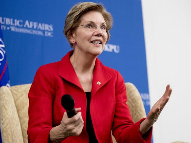 沃伦竞选美国总统 伊丽莎白沃伦照片资料 她为什么?#21307;?#26495;特朗普?