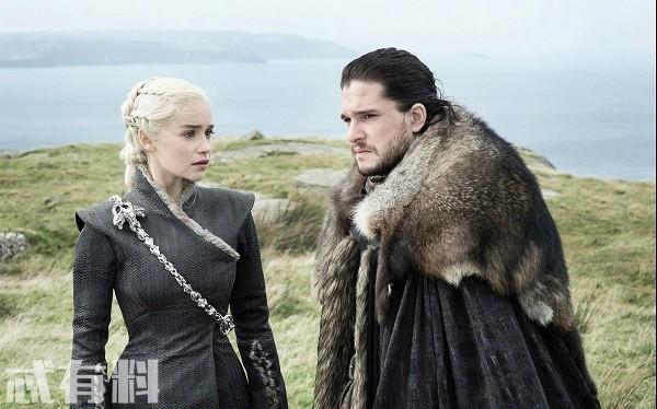 权力的游戏最终季曝光5秒片段,龙母雪诺北上,珊莎交出临冬城