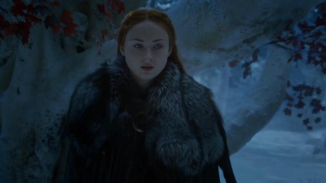 《权力的游戏》第8季预告解析,珊莎交出临冬城,1大细节出卖她!