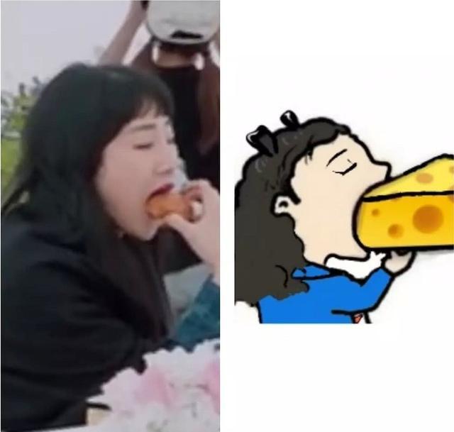 播出 yamy吃面包同款很像王思聪